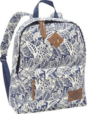 Dickies Canvas Backpack Navy Big Flora - Dickies Everyday Backpacks