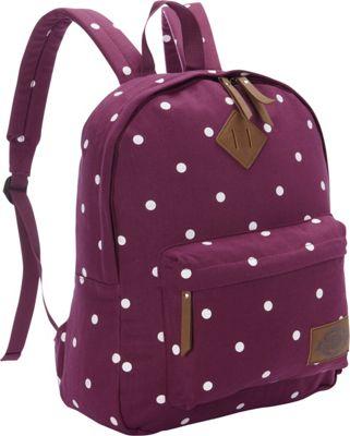 Dickies Canvas Backpack WINE POLKA DOT - Dickies Everyday Backpacks