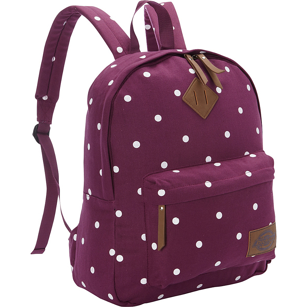 Dickies Canvas Backpack WINE POLKA DOT - Dickies Everyday Backpacks