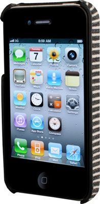 HEX iPhone 4/4s Core Case Black/Grey Stripe - HEX Electronic Cases