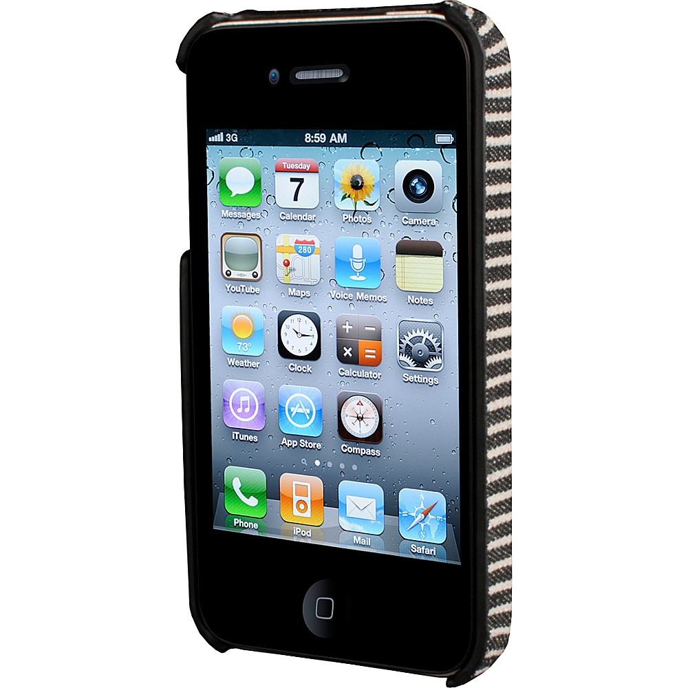 HEX iPhone 4 4s Core Case Black Grey Stripe HEX Electronic Cases
