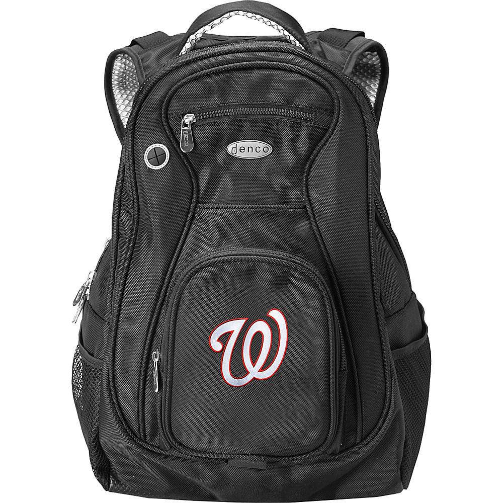 Denco Sports Luggage MLB 19 Laptop Backpack Washington Nationals - Denco Sports Luggage Business & Laptop Backpacks - Backpacks, Business & Laptop Backpacks