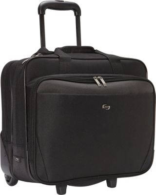SOLO 17.3 inch Laptop Rolling Case Black - SOLO Wheeled Business Cases