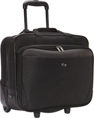 "Solo 17.3"" Laptop Rolling Case Black - SOLO Wheeled Busin..."