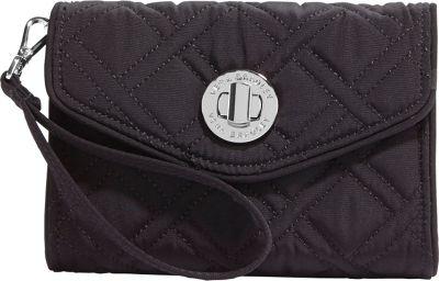 Vera Bradley Your Turn Smartphone Wristlet- Solids Black - Vera Bradley Ladies Wallet on a String