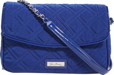 Vera Bradley Chain Shoulder Bag Cobalt - Vera Bradley Fabric Handbags