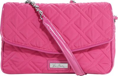 Vera Bradley Chain Shoulder Bag Deep Pink - Vera Bradley Fabric Handbags