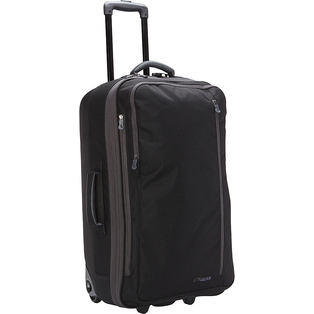 "LiteGear 26"" Hybrid Rolling Bag Black - LiteGear Softside Checked"