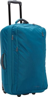 LiteGear LiteGear 26 inch Hybrid Rolling Bag Mallard Green Blue - LiteGear Softside Checked
