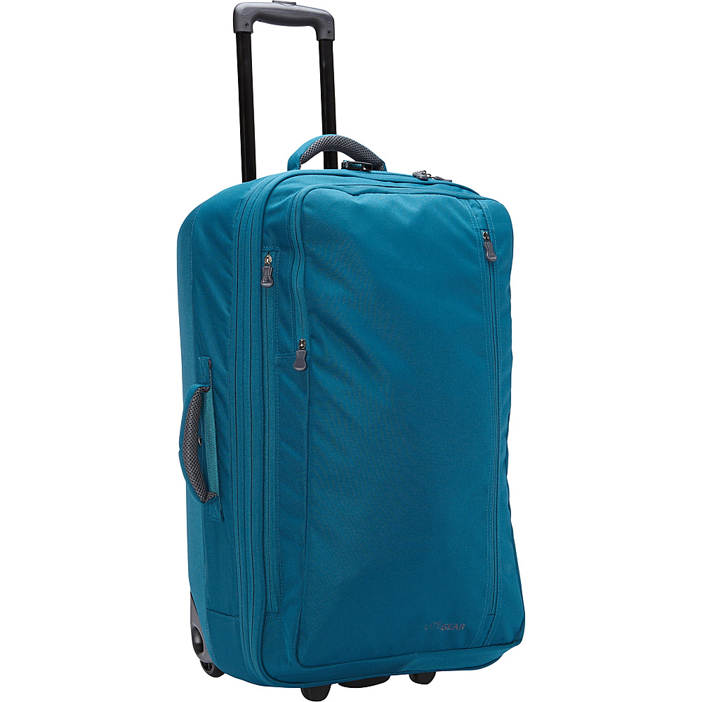 "LiteGear 26"" Hybrid Rolling Bag Mallard Green Blue - LiteGear Softside Checked"