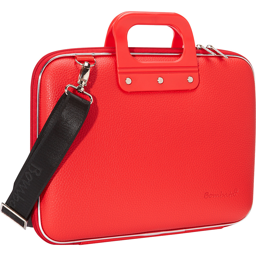 Bombata Medio 13 inch Laptop Bag Red Bombata Non Wheeled Business Cases