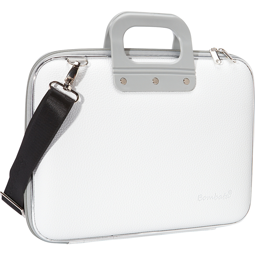Bombata Medio 13 inch Laptop Bag White Bombata Non Wheeled Business Cases