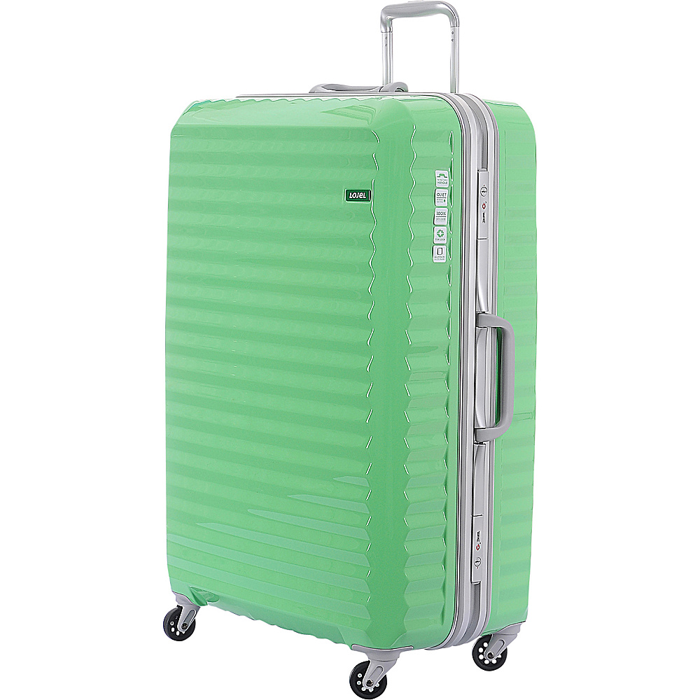 Lojel Groove Frame Large Luggage Lime Green Lojel Hardside Checked