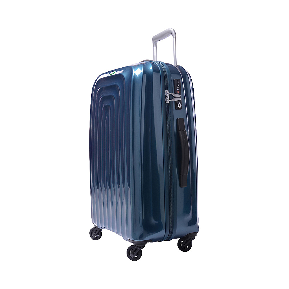Lojel Wave Medium Luggage Blue Lojel Hardside Checked