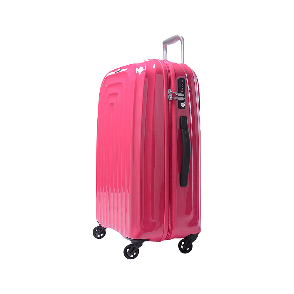 Lojel Wave Medium Luggage Pink Lojel Hardside Checked