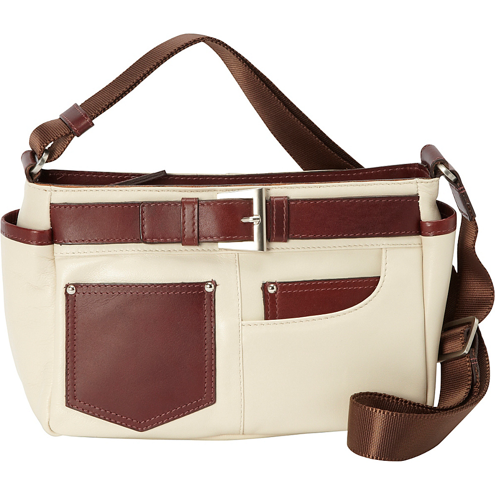 Derek Alexander Small EW Top Zip Bone Derek Alexander Leather Handbags