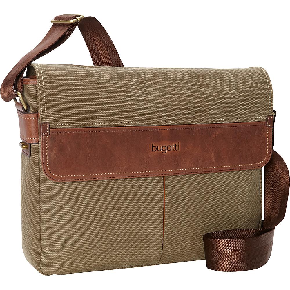Bugatti Capetown Messenger Bag Khaki Bugatti Messenger Bags