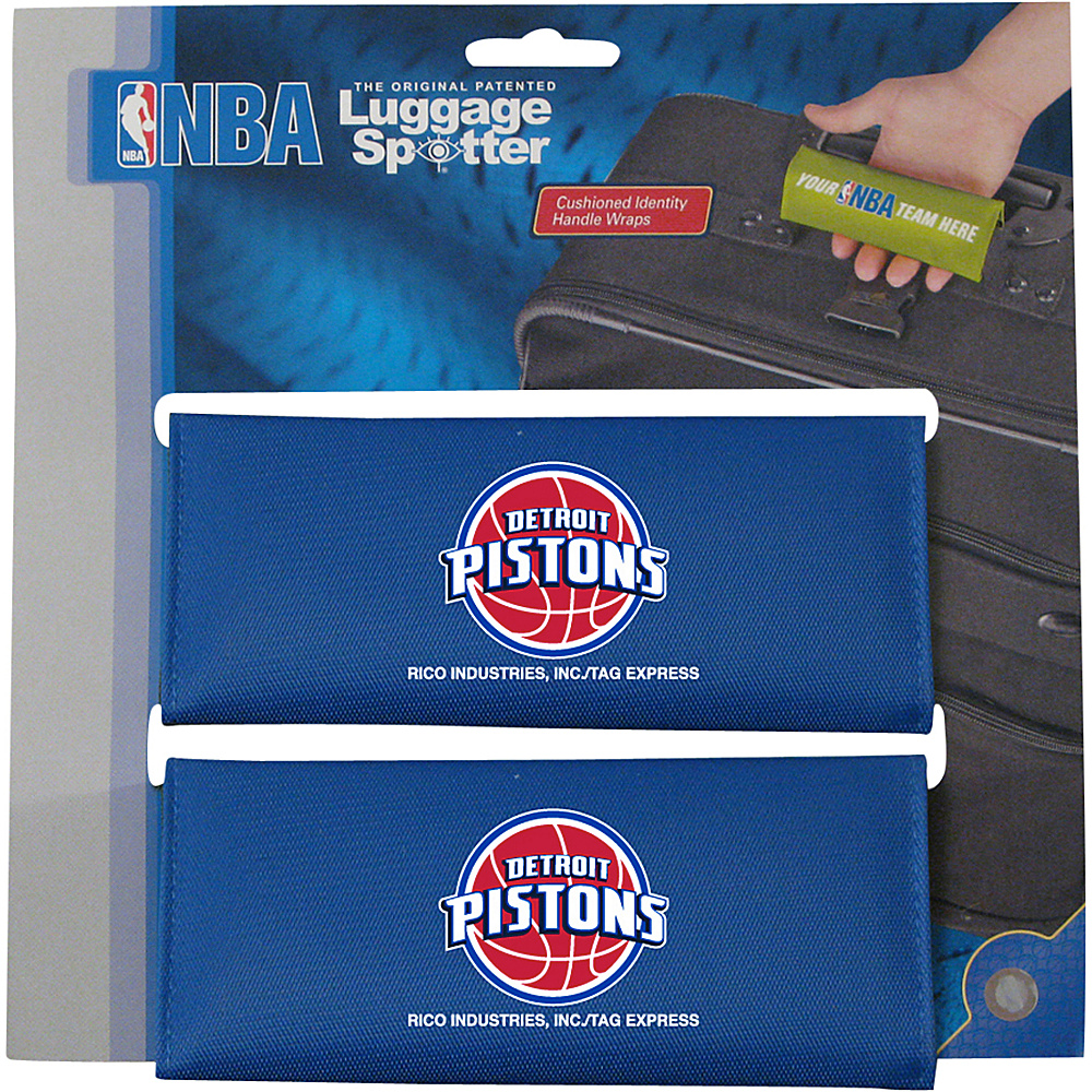 Luggage Spotters NBA Detroit Pistons Luggage Spotter Blue Luggage Spotters Luggage Accessories