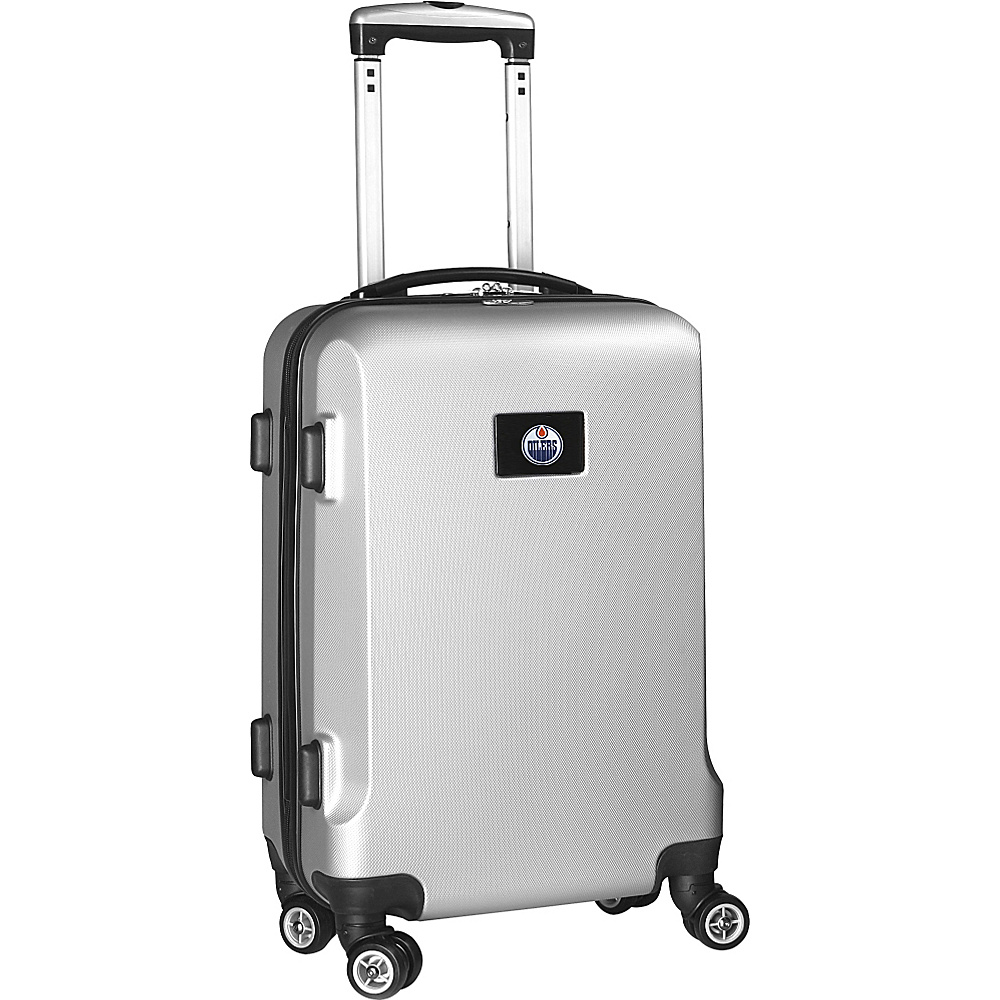 Denco Sports Luggage NHL 20 Domestic Carry-On Silver Edmonton Oilers - Denco Sports Luggage Hardside Carry-On - Luggage, Hardside Carry-On