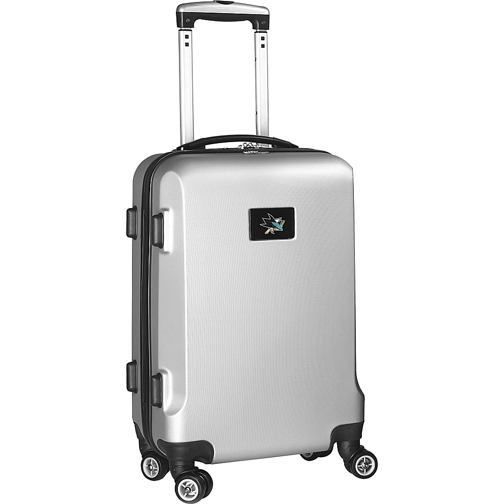 Denco Sports Luggage NHL 20 Domestic Carry-On Silver San Jose Sharks - Denco Sports Luggage Hardside Carry-On - Luggage, Hardside Carry-On