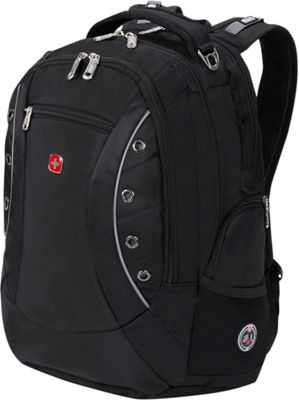 SwissGear Travel Gear Odyssey Laptop Backpack Black - SwissGear Travel Gear Business & Laptop Backpacks