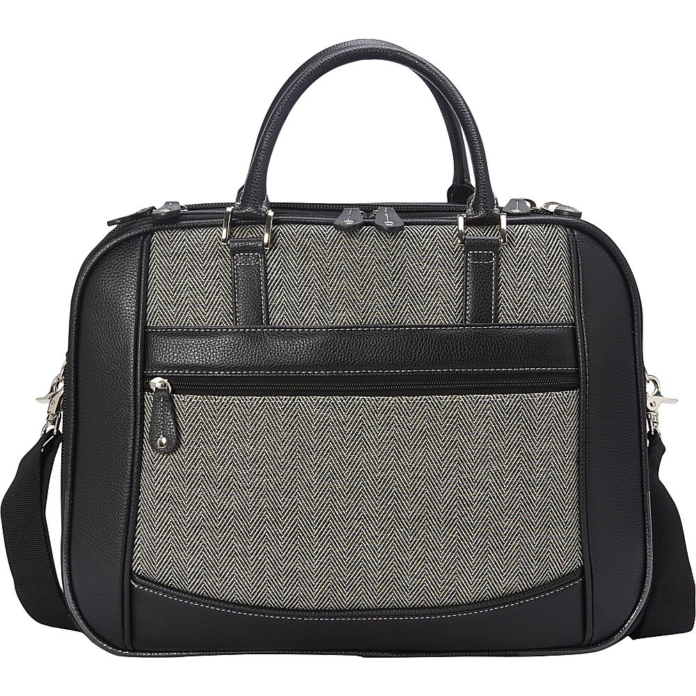 "Mobile Edge Classic Herringbone ScanFast Checkpoint-Friendly Element 17"" Laptop Briefcase Herringbone - Mobile Edge Non-Wheeled Business Cases"