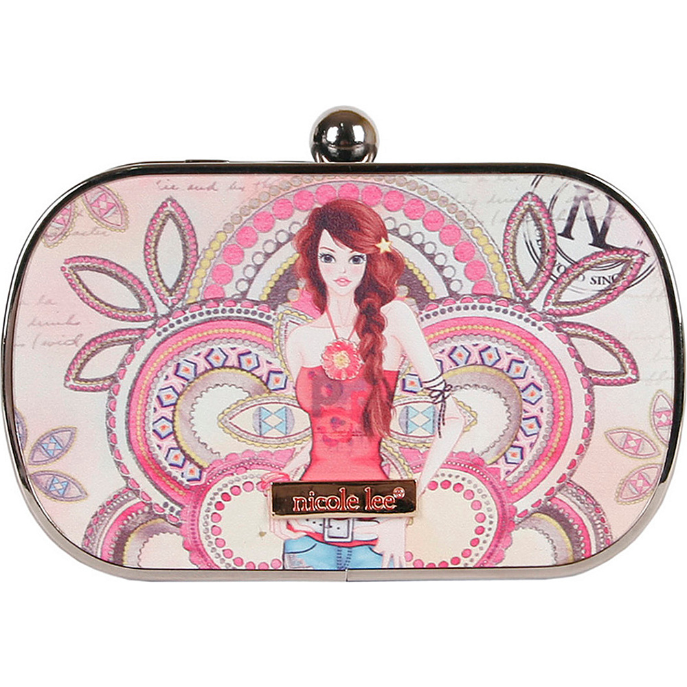 Nicole Lee Briar Hard Case Mini Clutch Marina Nicole Lee Manmade Handbags