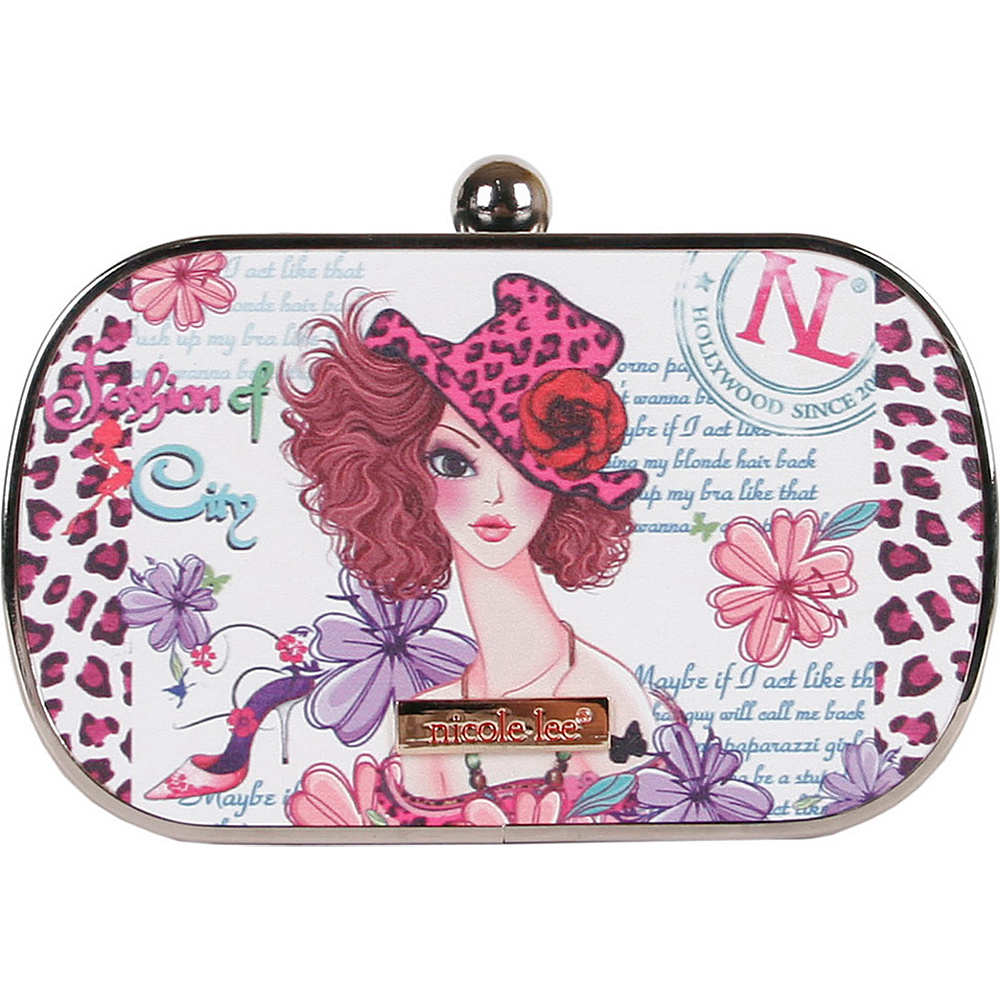 Nicole Lee Briar Hard Case Mini Clutch Sunny White Nicole Lee Manmade Handbags