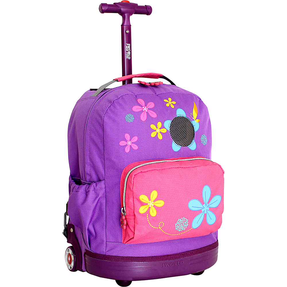 J World New York Aroma Rolling Backpack Purple J World New York Rolling Backpacks