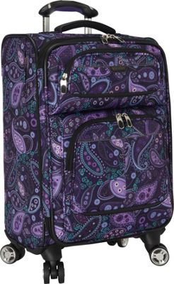 Ricardo Beverly Hills Mar Vista 20-Inch 4 Wheeled Expandable Wheel Aboard Purple Paisley - Ricardo Beverly Hills Softside Carry-On