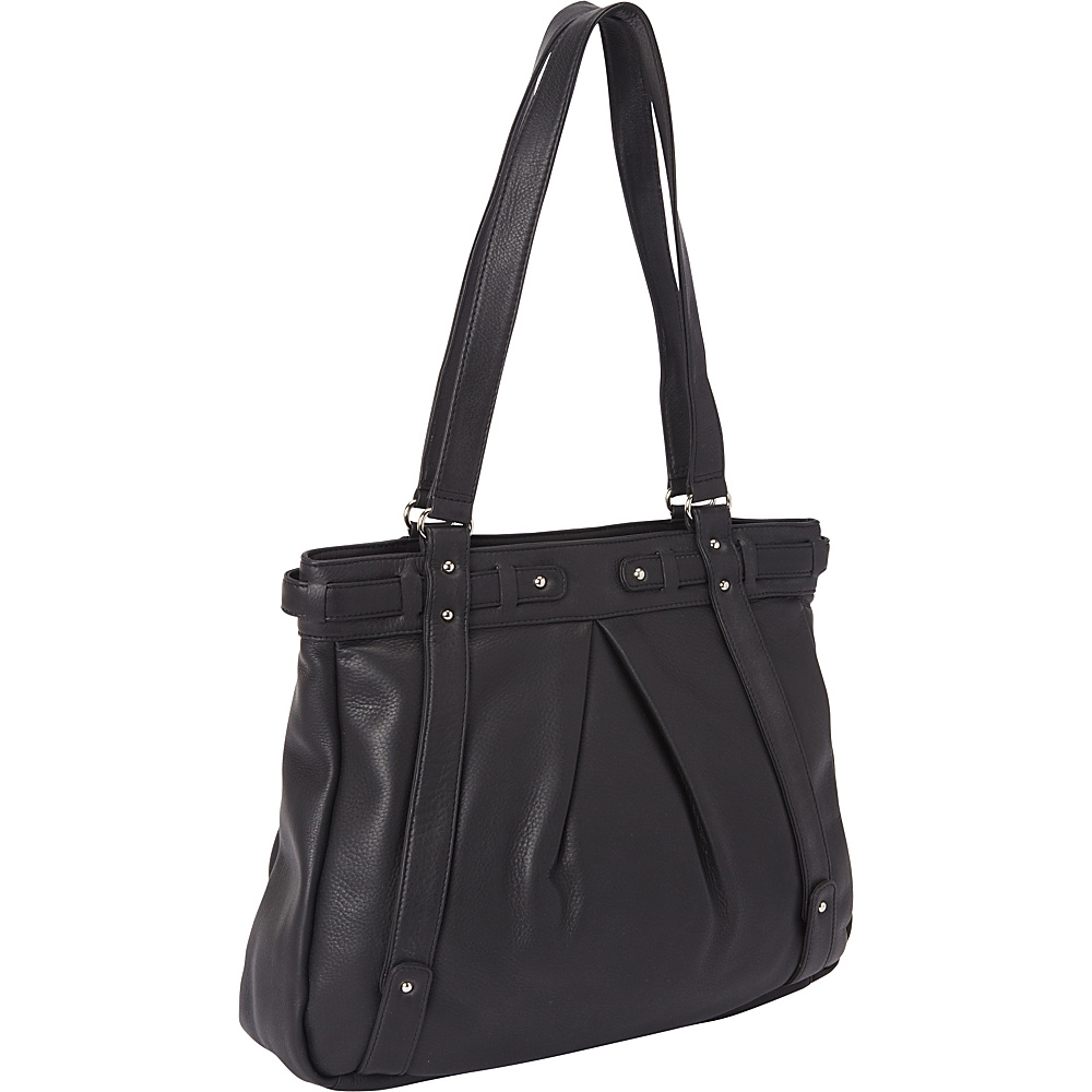 Derek Alexander Large Top Zip Tote Black Derek Alexander Leather Handbags