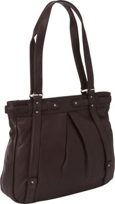 Derek Alexander Large Top Zip Tote Brown - Derek Alexander Leather Handbags