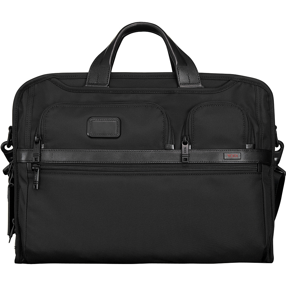 Tumi Alpha 2 Compact Large Screen Laptop Brief Black - Tumi Non-Wheeled Business Cases - Work Bags & Briefcases, Non-Wheeled Business Cases