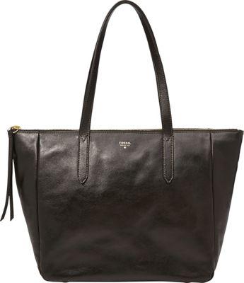 Fossil Sydney Shopper Tote Black - Fossil Leather Handbags