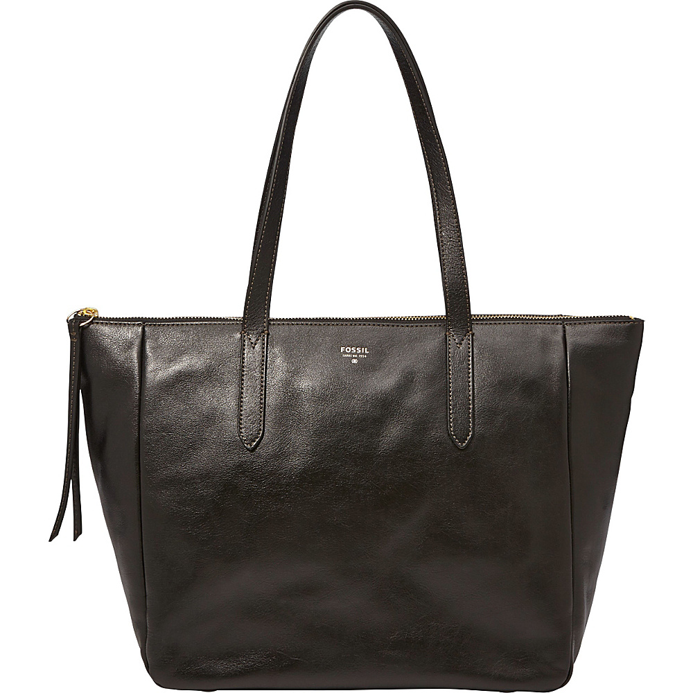 Fossil Sydney Shopper Tote Black Fossil Leather Handbags