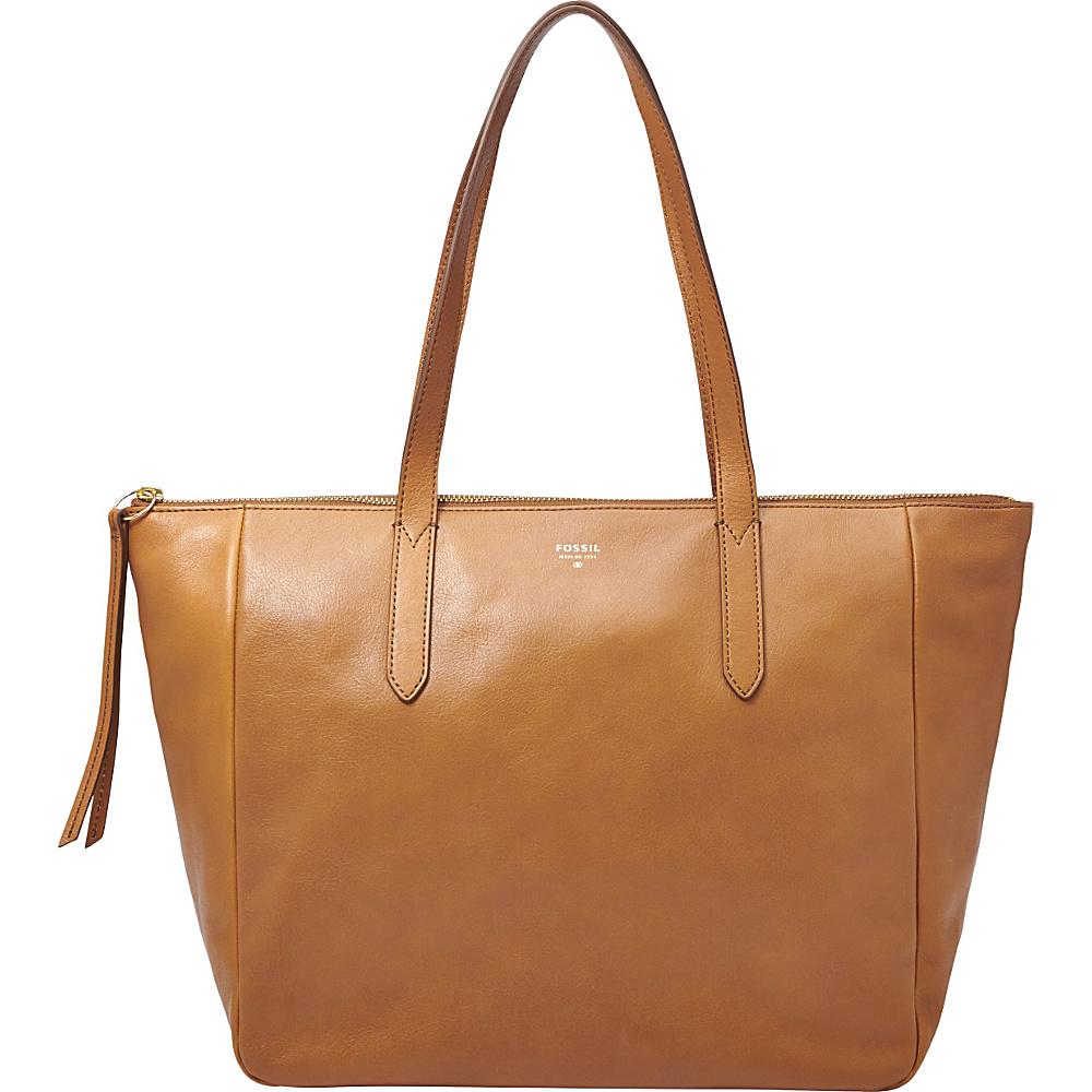 Fossil Sydney Shopper Tote Camel - Fossil Leather Handbags