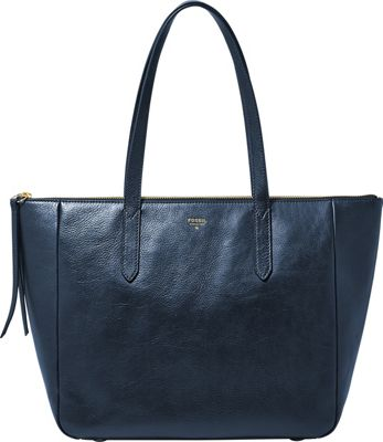 Fossil Sydney Shopper Heritage Blue - Fossil Leather Handbags