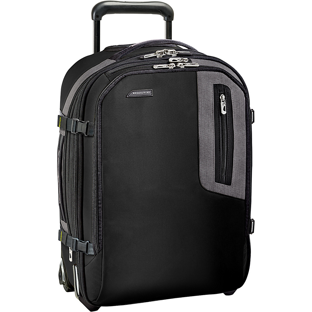 Briggs Riley BRX Explore Expandable Commuter Upright Black Briggs Riley Softside Carry On