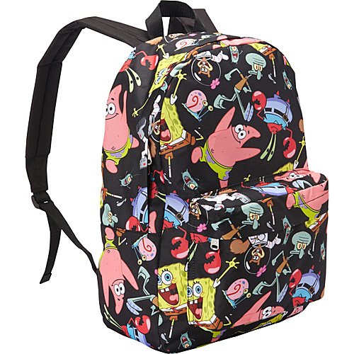 Loungefly Spongebob Backpack Black/Multi(Blk/Multi) - Loungefly School & Day Hiking Backpacks