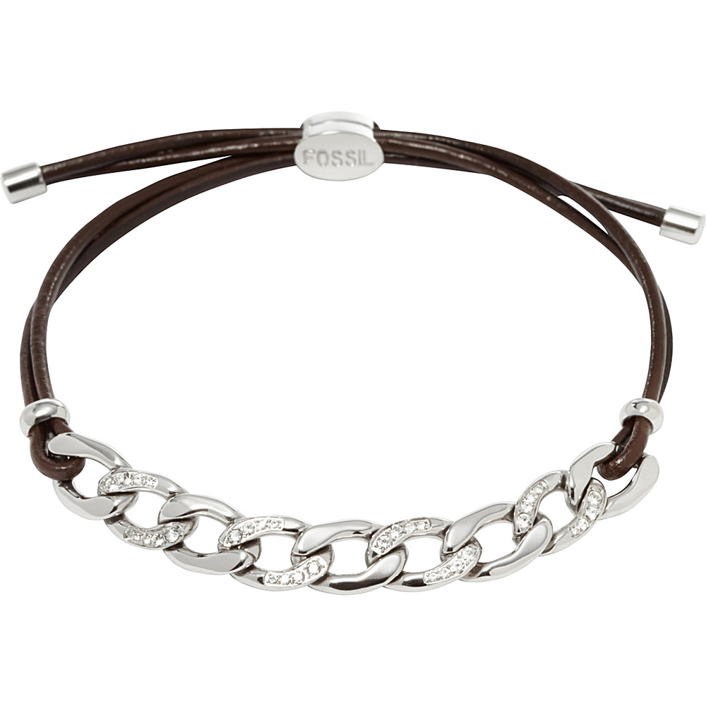 Fossil Glitz Curb Chain Starter Bracelet Silver Fossil Other Fashion Accessories