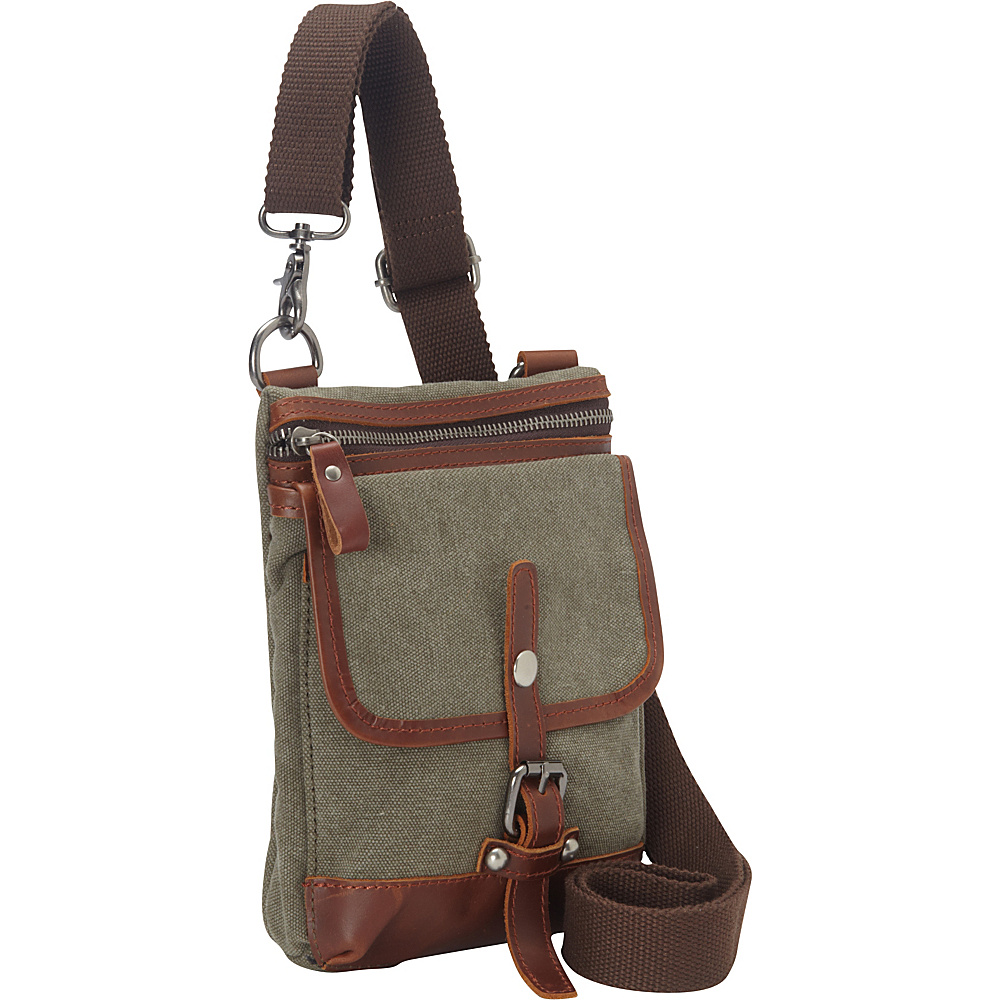 Vagabond Traveler Canvas Stylish Slim Shoulder Bag Military Green Vagabond Traveler Other Men s Bags