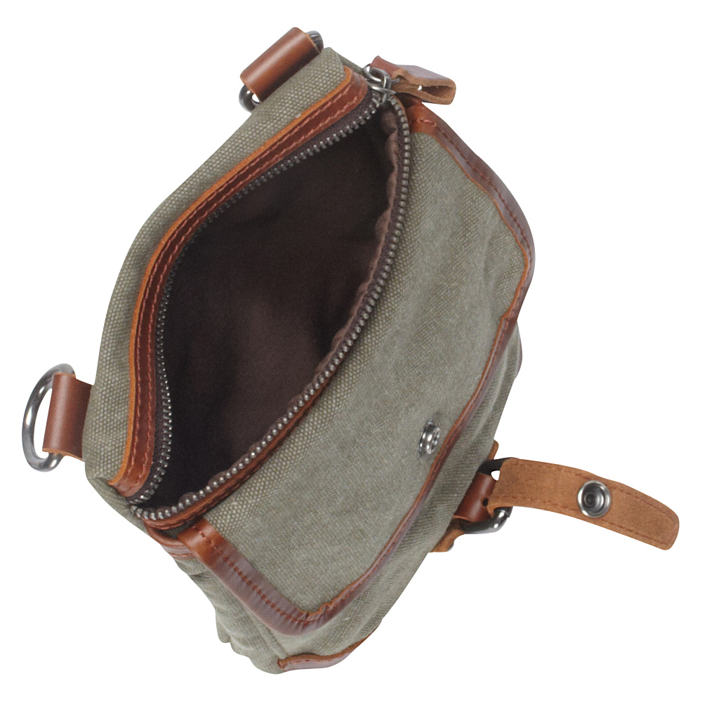 Vagabond Traveler Canvas Stylish Slim Shoulder Bag Military Green - Vagabond Traveler Other Men's Bags