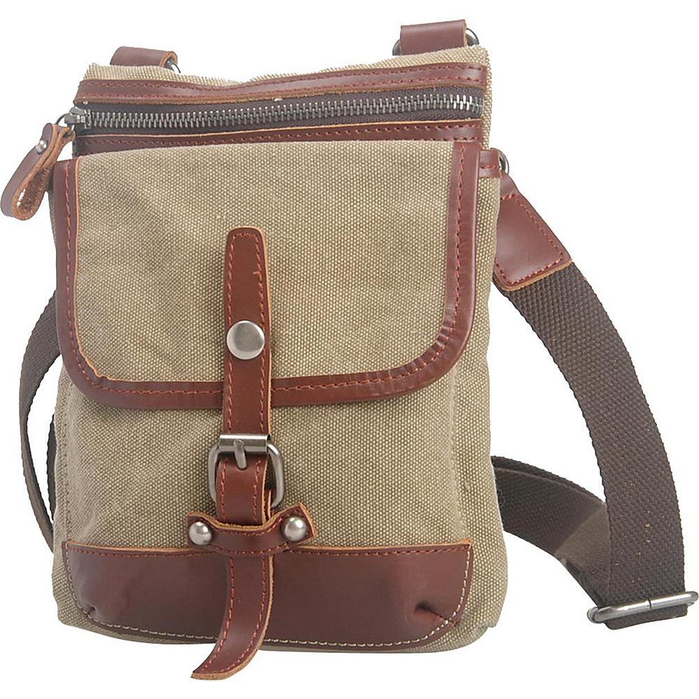 Vagabond Traveler Canvas Stylish Slim Shoulder Bag Khaki - Vagabond Traveler Other Mens Bags - Work Bags & Briefcases, Other Men's Bags