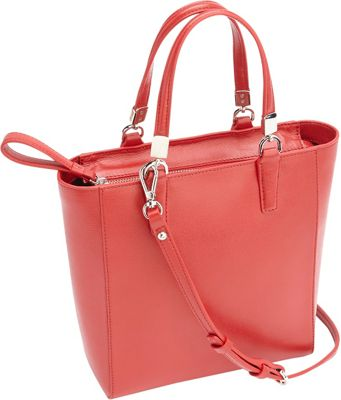 Royce Leather RFID Blocking Saffiano Leather Mini Tote Cross Body Bag Red - Royce Leather Leather Handbags