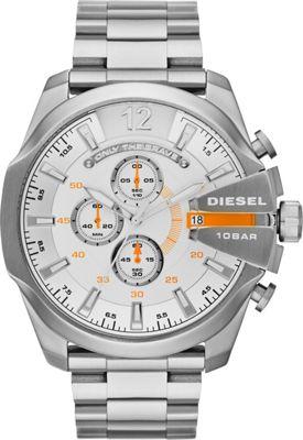 Diesel Watches Mega Chief Watch Silver - Diesel Watches Watches