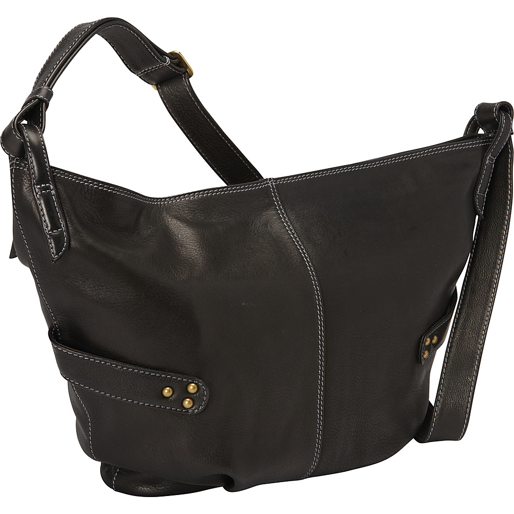 Derek Alexander Large E/W Slouch Bag Black - Derek Alexander Leather Handbags - Handbags, Leather Handbags