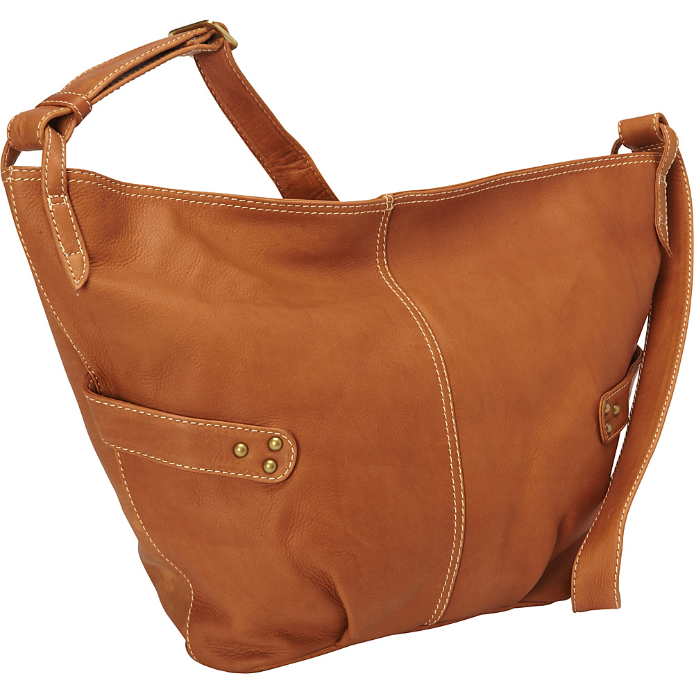 Derek Alexander Large E/W Slouch Bag Cognac - Derek Alexander Leather Handbags - Handbags, Leather Handbags