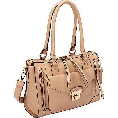 Melie Bianco Bonnie Satchel Nude - Melie Bianco Manmade Handbags