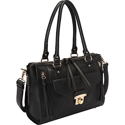 Melie Bianco Bonnie Satchel Black - Melie Bianco Manmade Handbags