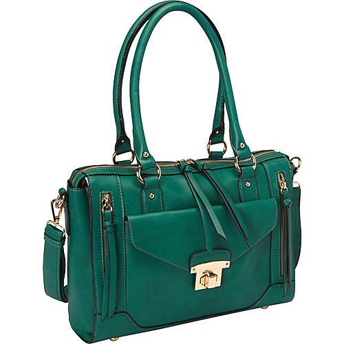 Melie Bianco Bonnie Satchel Emerald - Melie Bianco Manmade Handbags